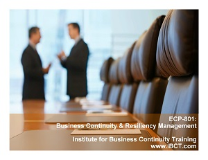 ECP801 Business Continuity & Resiliency Management