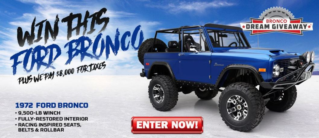 Bronco Dream Giveaway Home Page