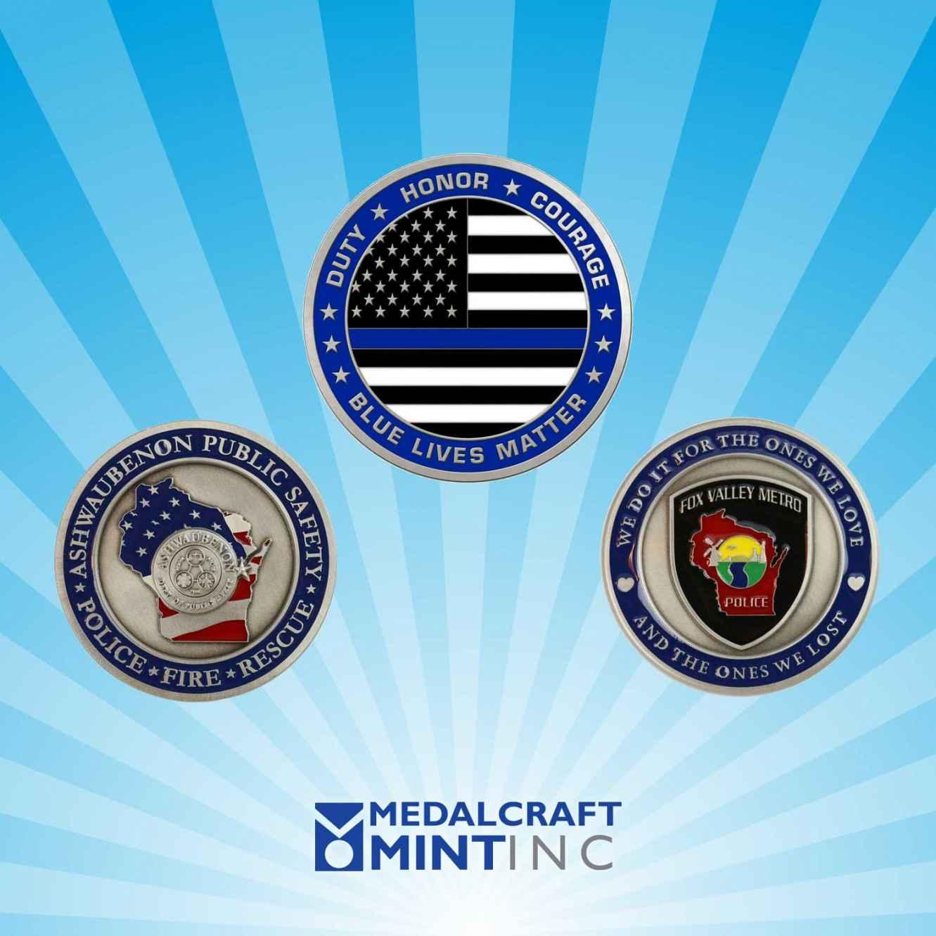 Medalcraft Mint Enamel Challenge Coins