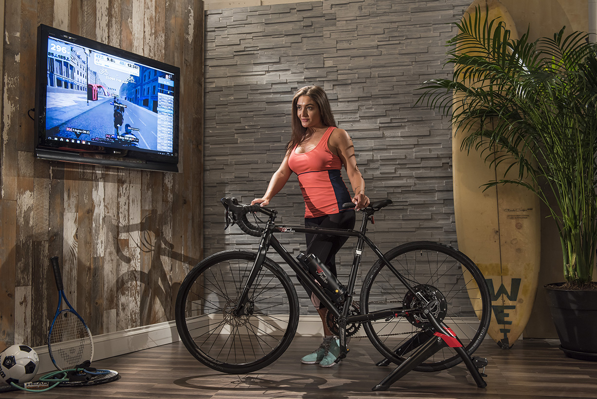 Clara Working Out In Her Living Room On FalcoeCiti