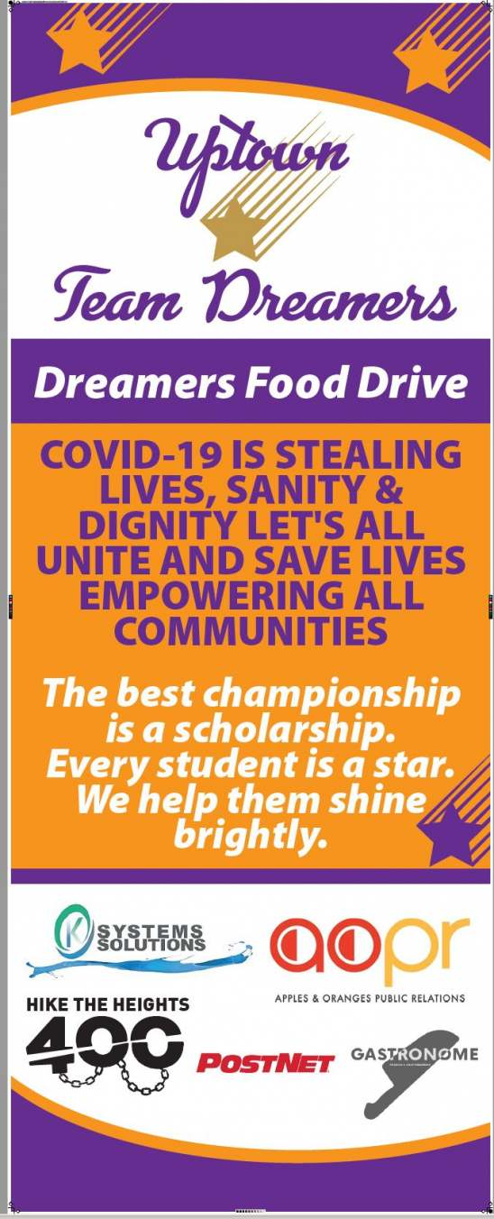 100 Hot Meals Food Drive - Uptown Team Dreamers