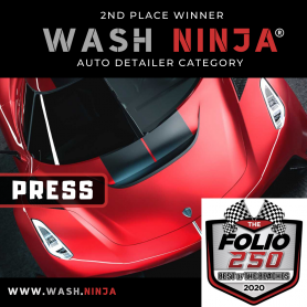 Wash Ninja® Best Auto Detailer 2nd Place Winner