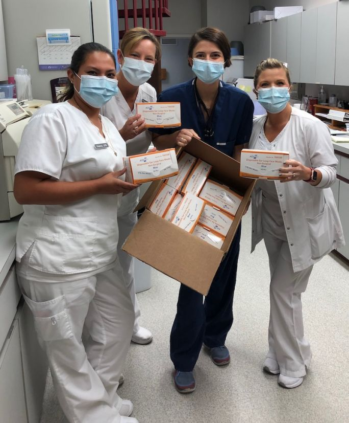 Healthcare professionals in Florida and GTM masks