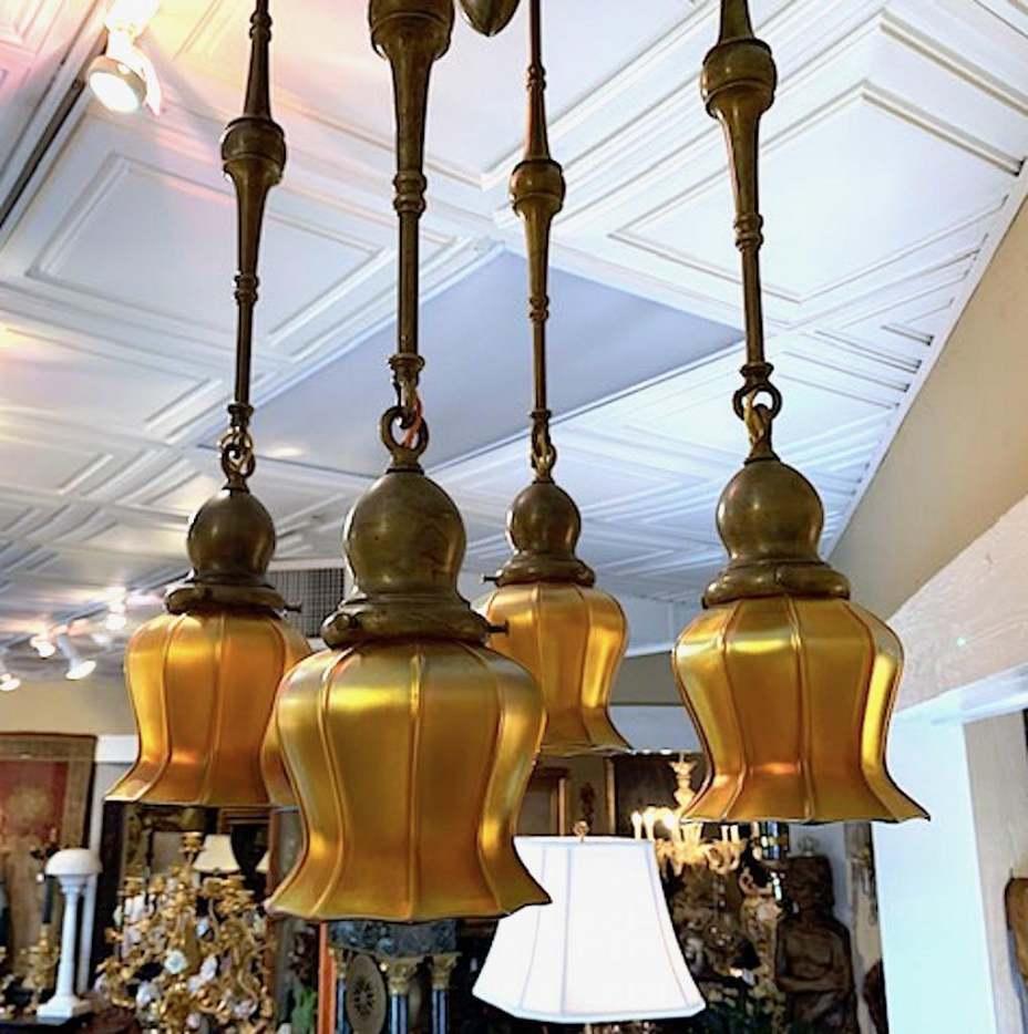 Quezel four-light hanging fixture (est. $2-$4,000)