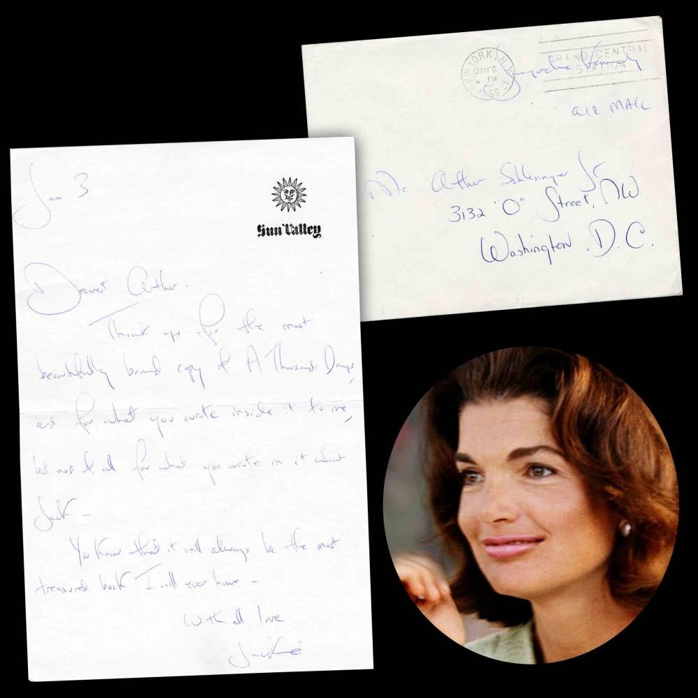 Letter penned by Ms. Kennedy to Arthur Schlesinger