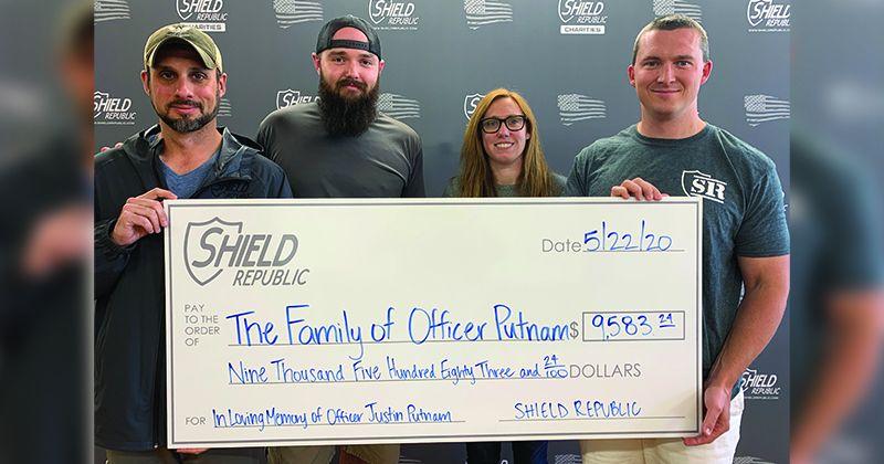 Officer Justin Putnam Donation Shield Republic