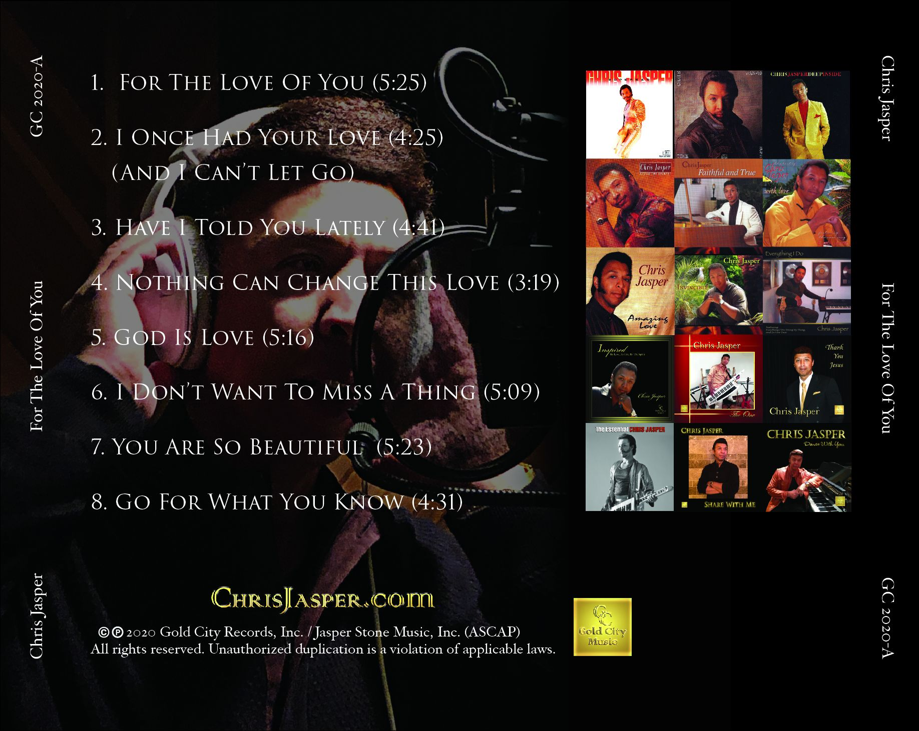 For The Love Of You CD