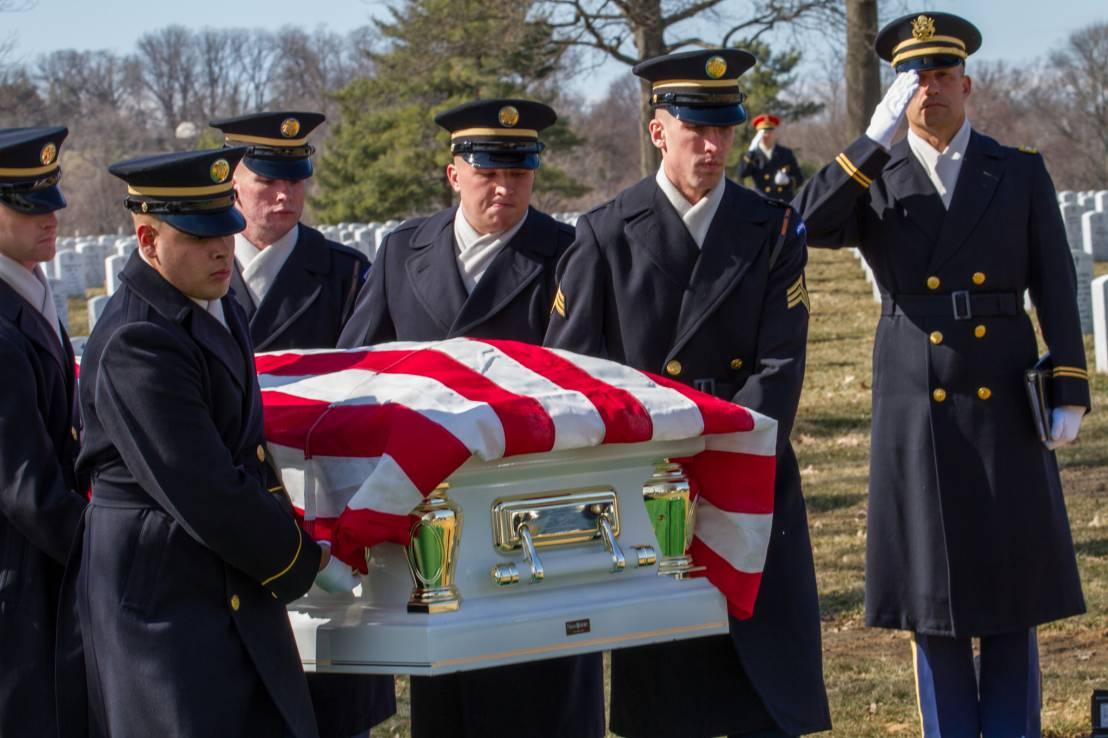Vietnam Hero Sp5 Wyley Wright Jr. & Wife@Arlington