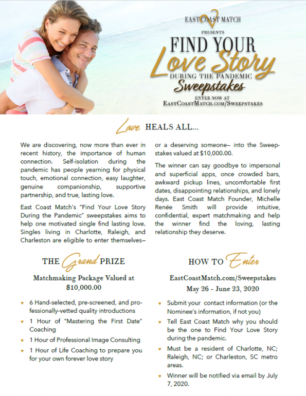 Find Your Love Story Sweeps Details