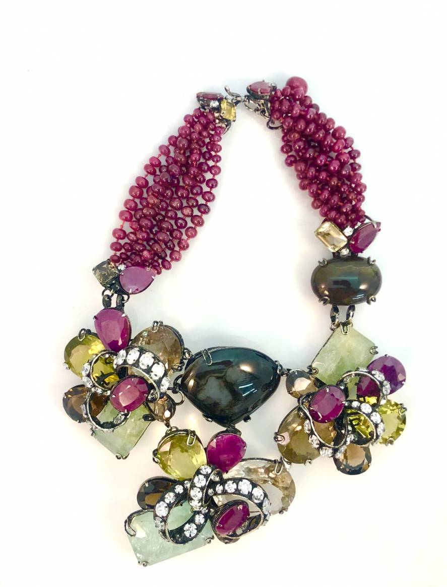 Iradj Moini multi-color stone necklace ($300-$500)