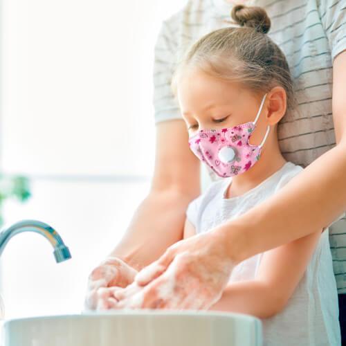 Pink children's mask