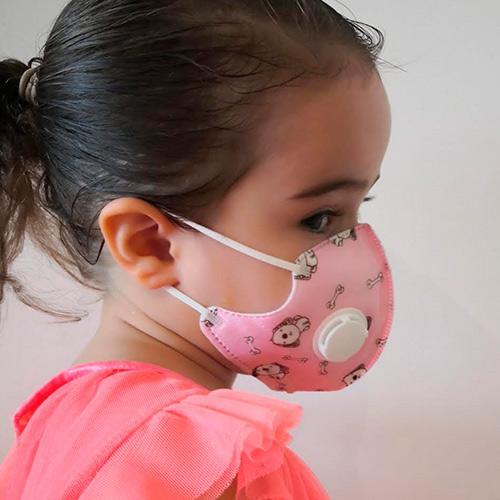 Pink dog children's mask
