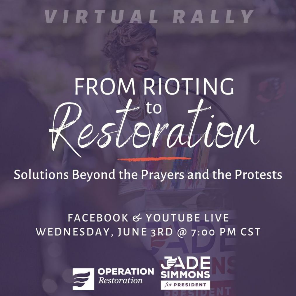 Virtual Rally For Restoration With Jade Simmons