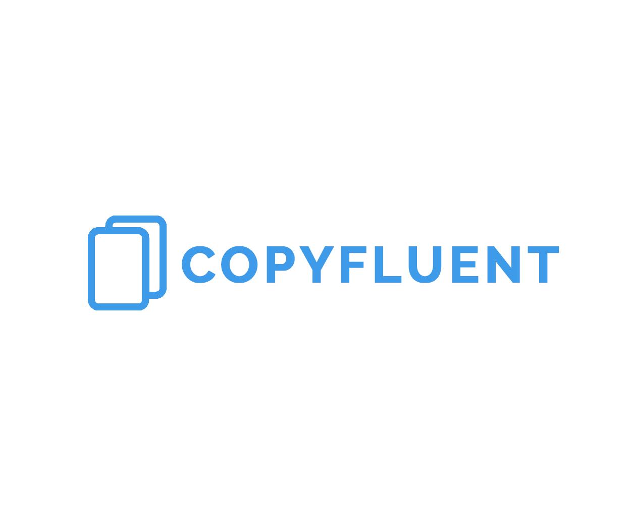 Copyfluent White Logo