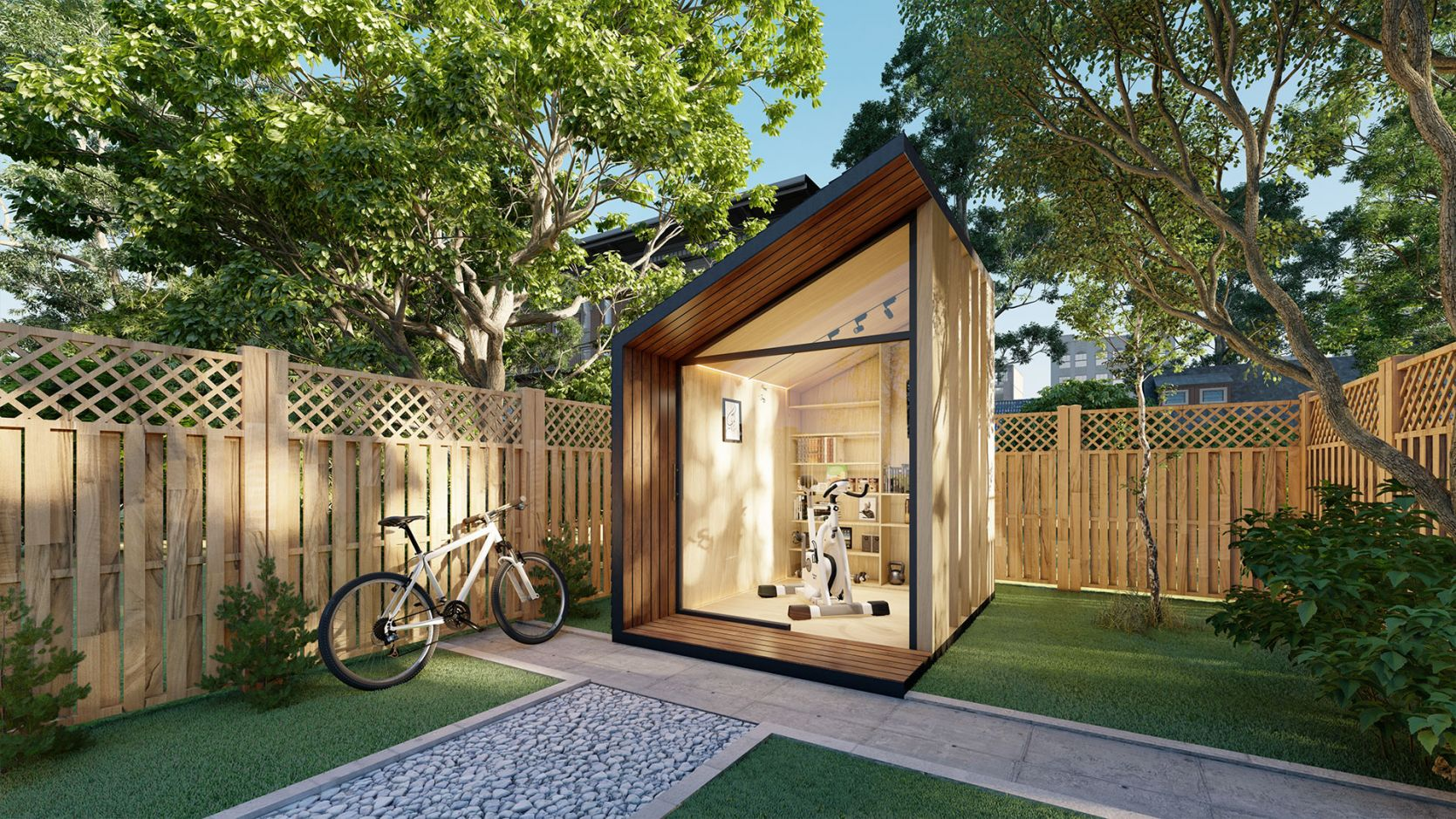 Zen Work Pod Home Office In Garden