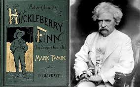 Huck Finn published by Twain in 1885