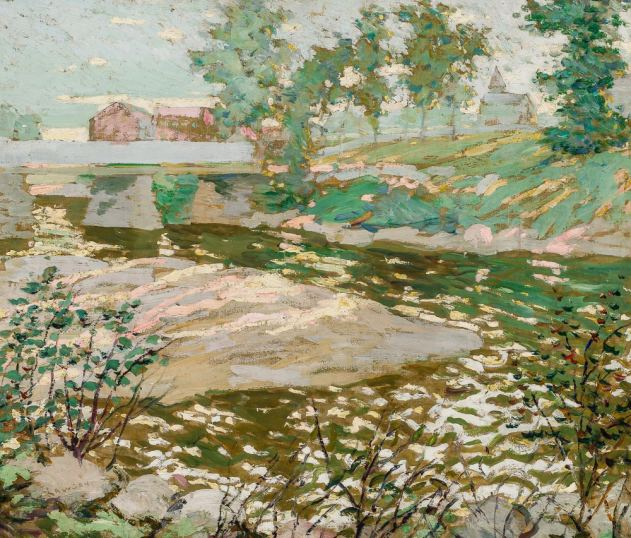 Ernest Lawson's A View of the Bronx River.