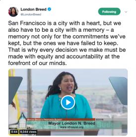 Mayor London Breed  6 14 19 Women's Summit