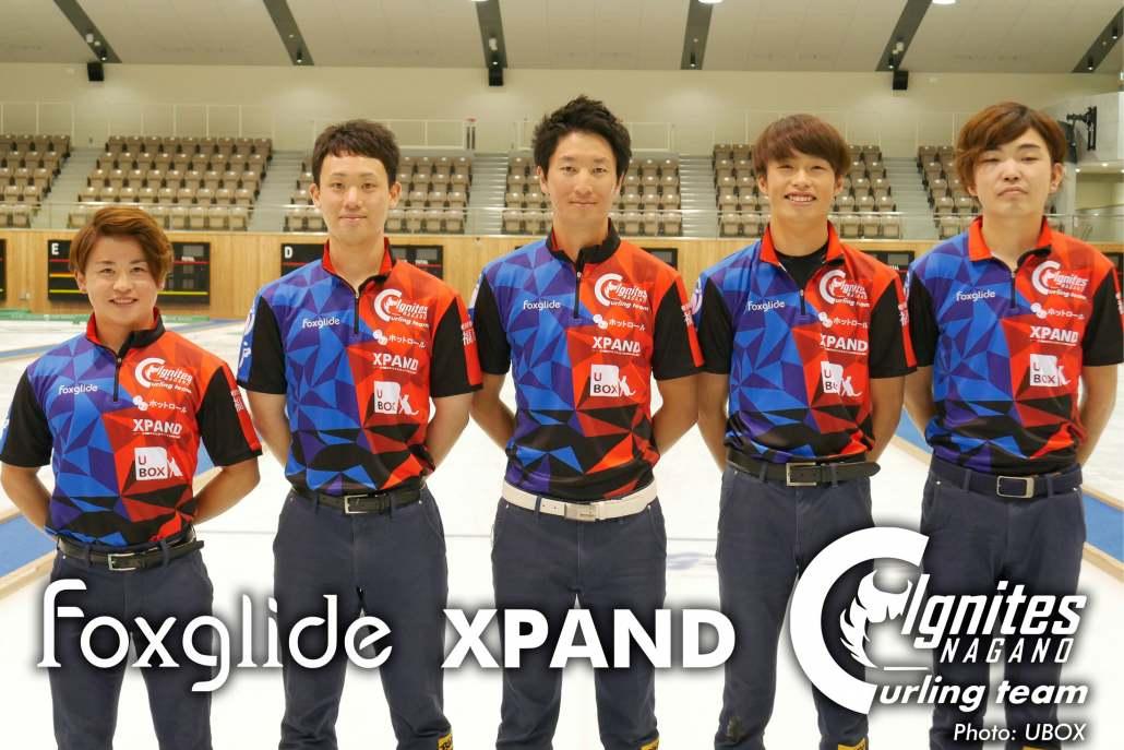 The Ignites Nagano team in their Foxglide uniforms