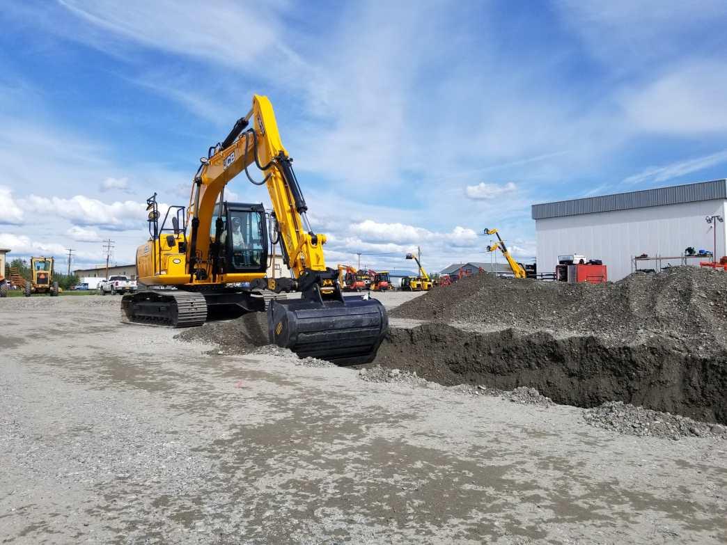 New JCB JS145 Excavator at ESI's Fairbanks yard.