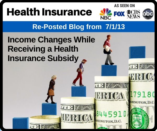 Income Changes While Receiving a Health...
