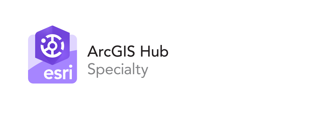ArcGIS Hub Specialty designation by Esri