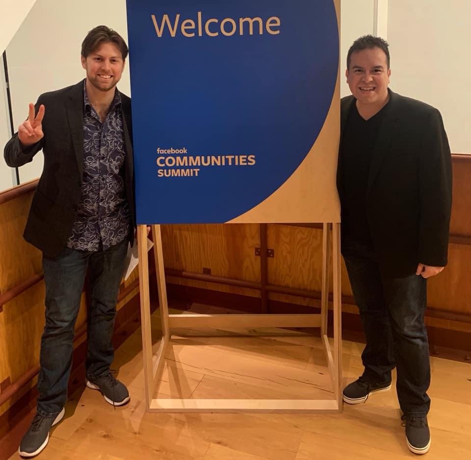 Warren and Roberto at Facebook Communities Summit