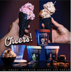 BOOZE CREAM decadent ice cream cones