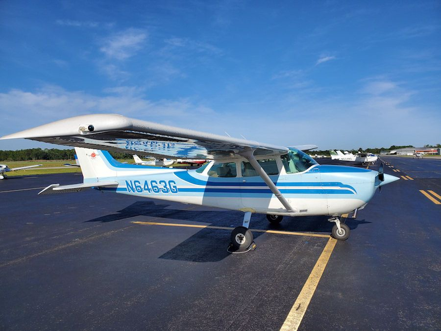 New Cessna 172 donated by The Heiser Foundation.