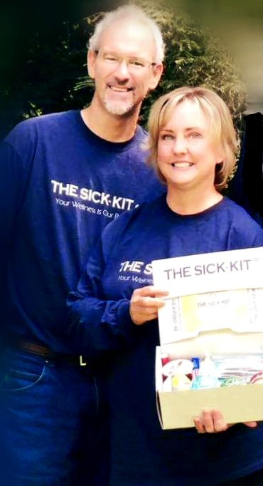 Scott and Teri Eastwood display The Sick-Kit