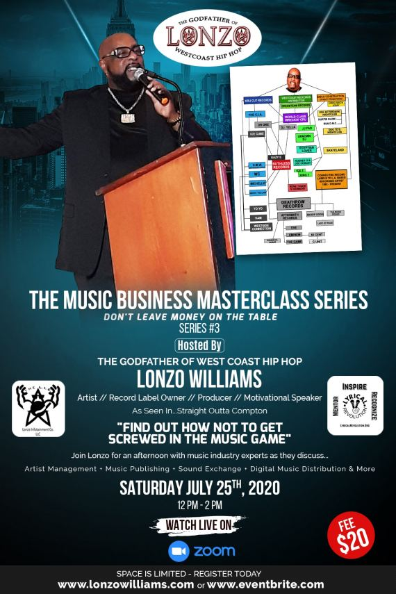 Join Lonzo on Saturday, July 25, 2020 12 PM - 2 PM