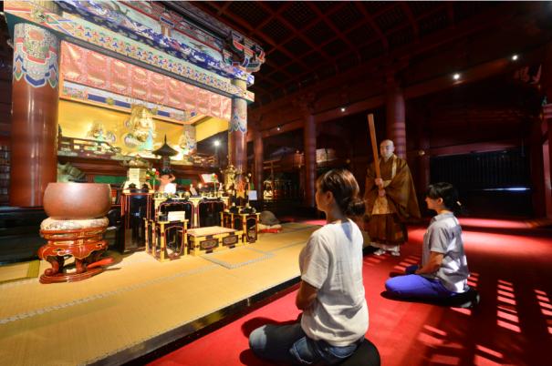 Rinnoji Temple, Zazen experience, Nikko, Japan