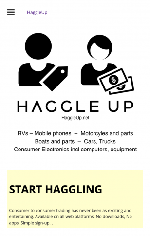 Sign Up With Haggle Up