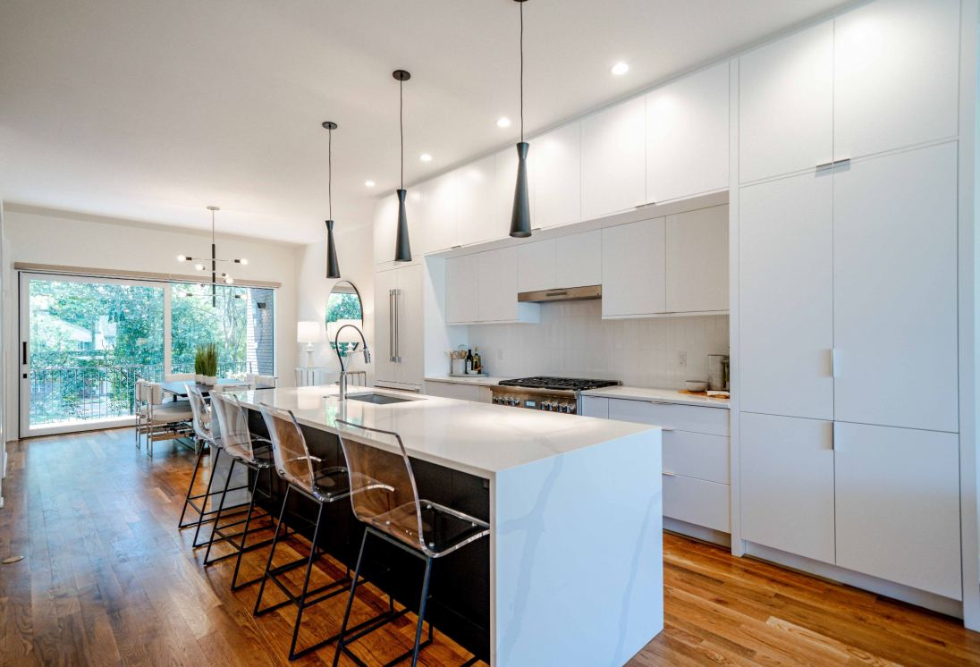 Clark Townhomes feature chef-inspired kitchens.