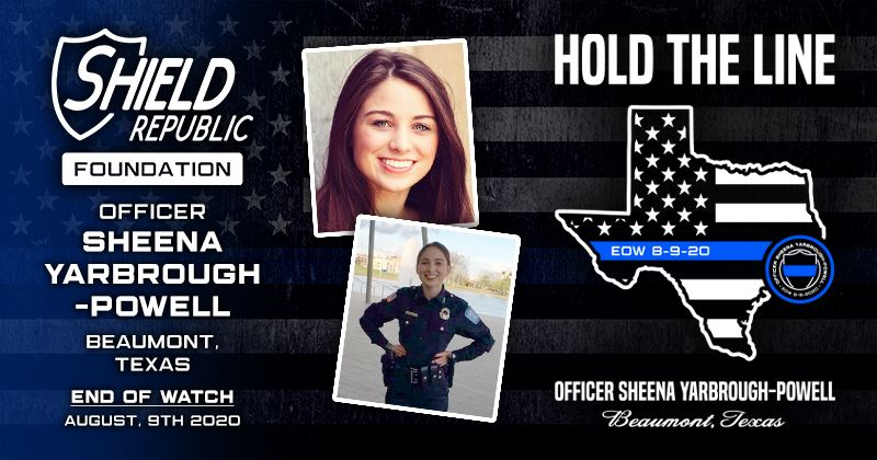 Fundraiser Hold The Line Officer Sheena Yarbroug