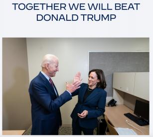 Biden & Harris  Running Mates for The White House