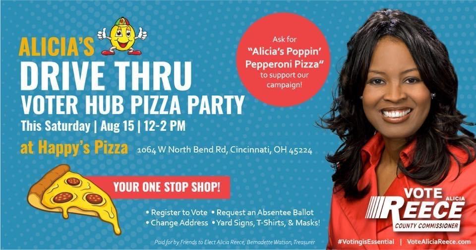 Alicia Reece's Voter Hub Pizza Party