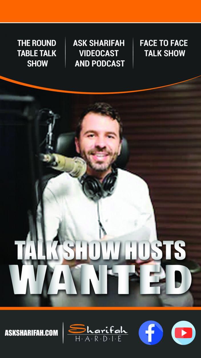 Talk Show Host Flyer