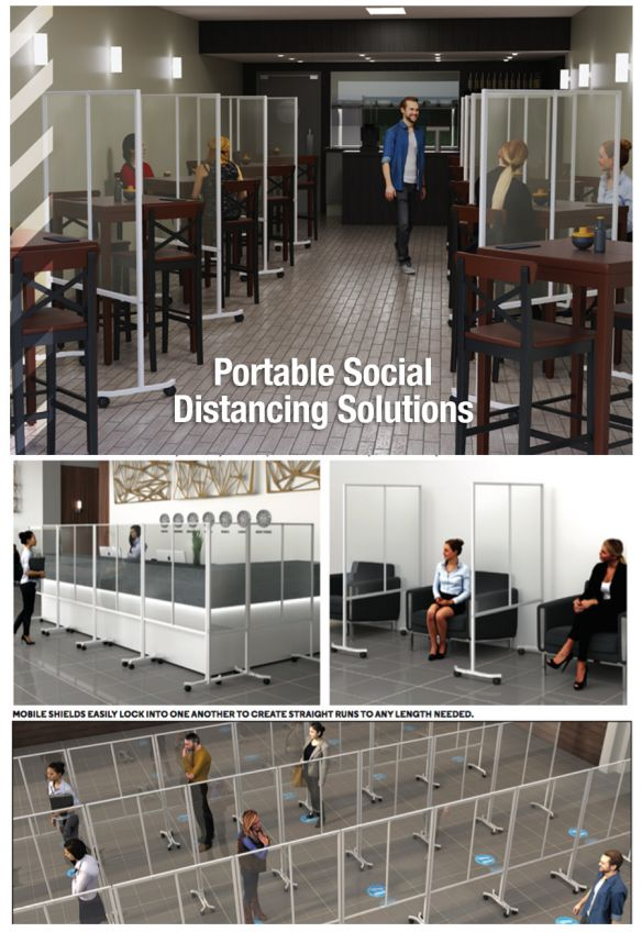 New Mobile and Portable Social Distancing Products