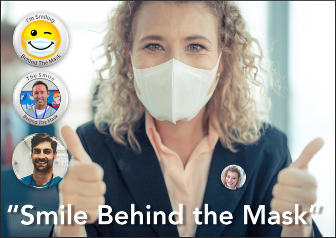 Photo Buttons: Smile Behind The Mask