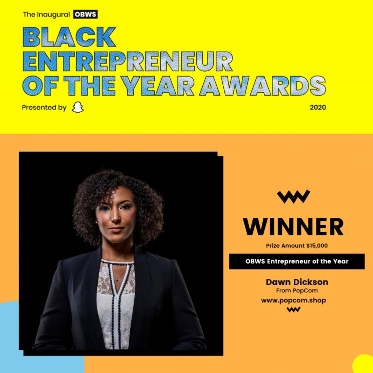 OBWS Black Entrepreneur Of The Year Award Winner