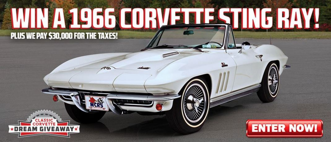 The grand prize is this 1966 Sting Ray Corvette.