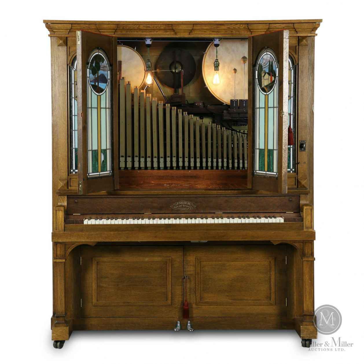 "Early 1900s Seeburg Style ""G"" orchestrion."