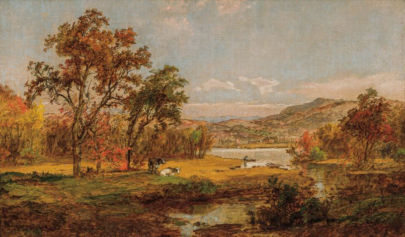 Oil on canvas painting by Jasper Francis Cropsey.