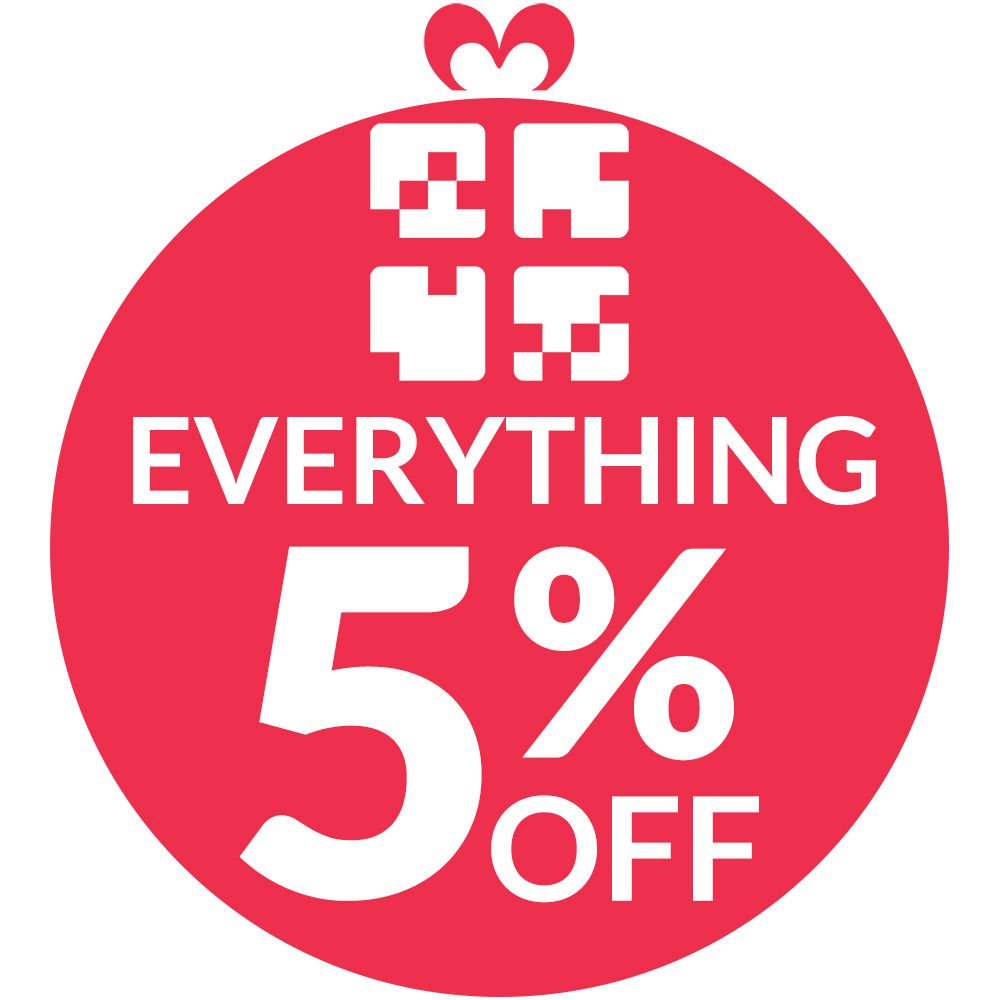 Everything 5 Percent Off 1000