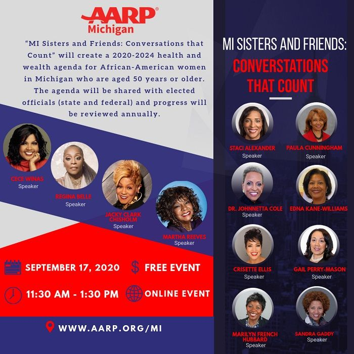 AARP Michigan Sisters And Friends