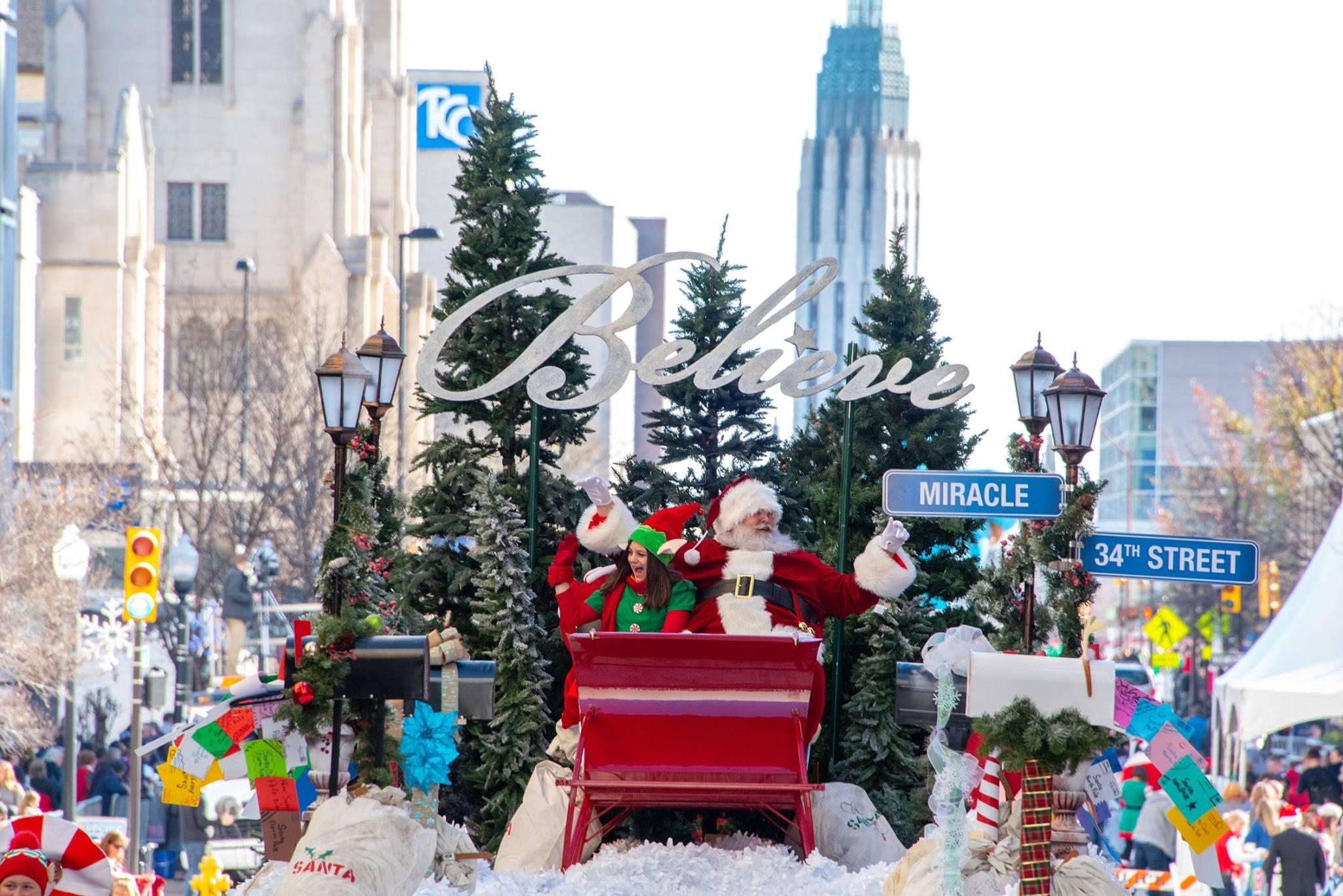 Tulsa Christmas Parade downtown Tulsa, Oklahoma