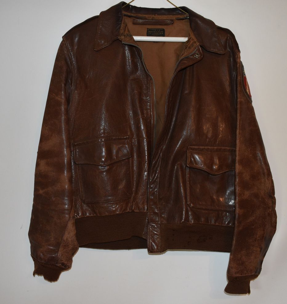 The World War II flight jacket of Ilya A. Tolstoy.