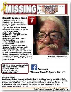 Missing Kenneth Eugene Harris
