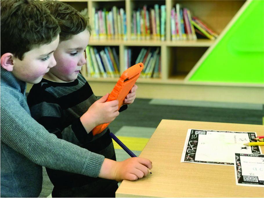 AR inspires collaboration in Kindergarten